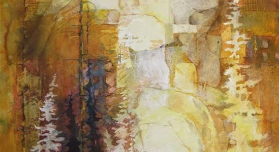 C. A. Evans Art Mixed Media Lodgepole Pine