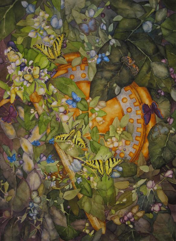 C. A. Evans Art Watercolor Armed Beautiful