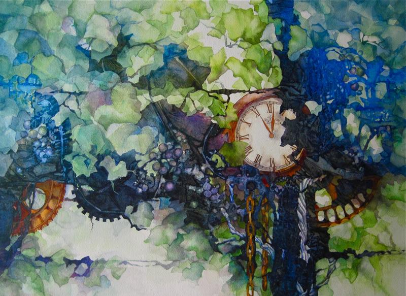 C. A. Evans Art Watercolor Harvest Time