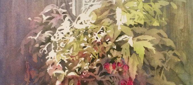 C. A. Evans Art Hanging Fuchsia